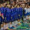 Nástup obou týmů před zahájením Superfinále. Foto: Štěpán Černý
