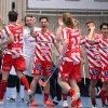 Ondřej Němeček a Marek Beneš slaví gól do sítě Thorengruppenu. Foto: Per Wiklund