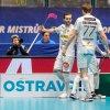 Nejlepší hráč finále Albin Sjögren a Tobias Gustafsson se radují z gólu. Foto: Martin Flousek