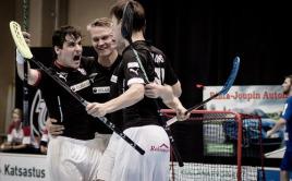 Michal Podhráský se raduje z gólu za TPS Turku. Foto: Anssi Koskinen.