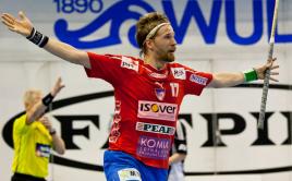 Radující se Mikko Kohonen. Foto: Floorballmagazin.de.