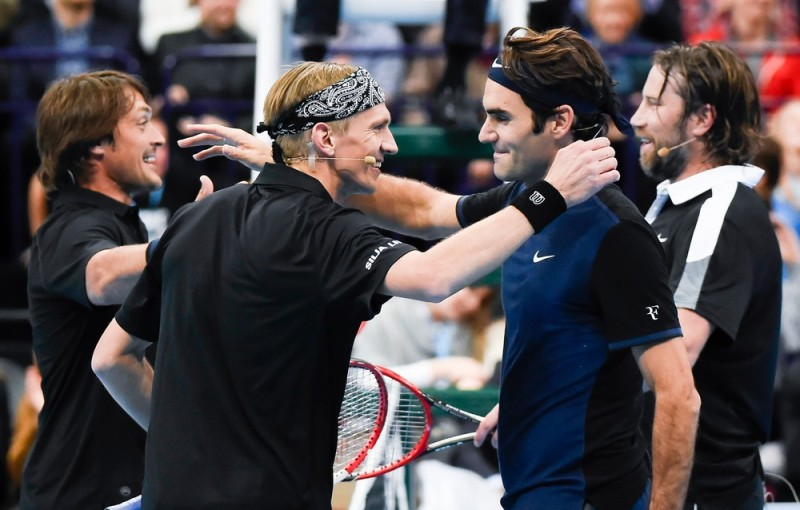 Teemu Selanne, Jarkko Nieminen, Roger Federer a Peter Forsberg. Foto: twitter
