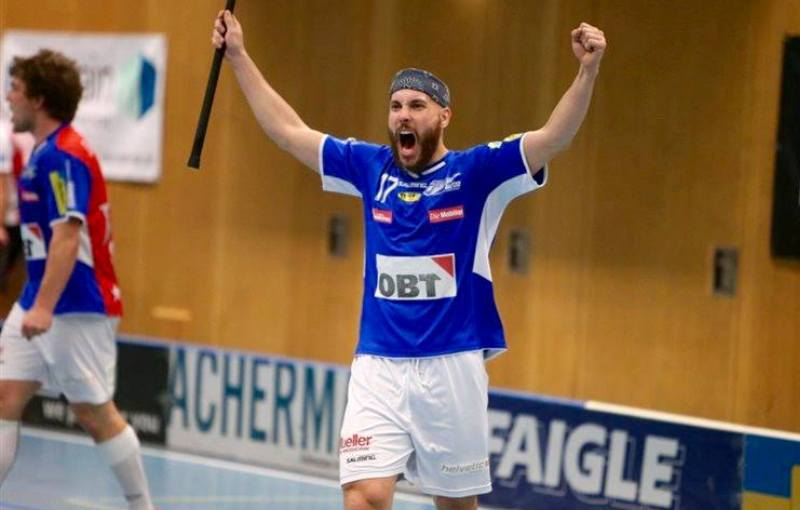 Milan Garčar. Foto: facebook/unihockey-photos.ch