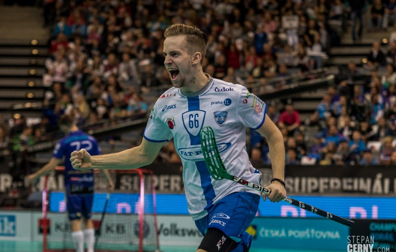 Patrik Dóža se stal hrdinou Superfinále a Chodov slaví první titul v historii! Foto: Štěpán Černý.