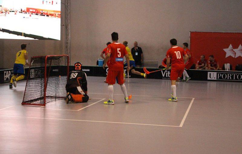 Duel Česko - Švédsko na akademickém MS v Portu. Foto: WUC Floorball 2016