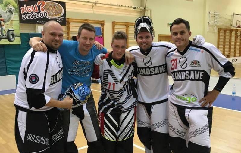 Ante Kettunen, Henri Toivoniemi, Petr Musil, Patrik Aman a Andis Blinds. Foto: facebook.com/blindsave camp