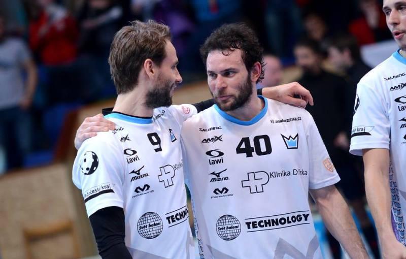 Petr Novotný a Jiří Curney. Foto: Florbal Mladá Boleslav