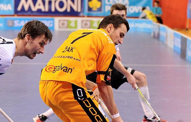 Zdeněk Žák v zápase Vítkovice - Chodov (2011). Foto: flickr Český florbal