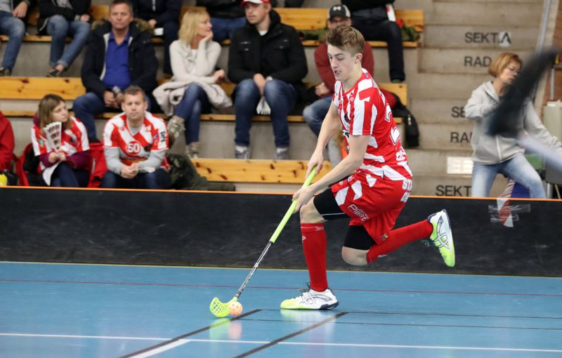 Filip Langer rozhodně byl v utkání vidět. Foto: Per Wiklund
