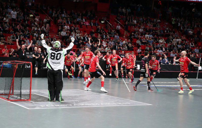 Radost hráčů Storvrety po vítězství v superfinále. Foto: Per Wiklund