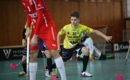 Momentka z utkání Vinohrad s českou akademickou reprezentací. Foto: SKV florbal