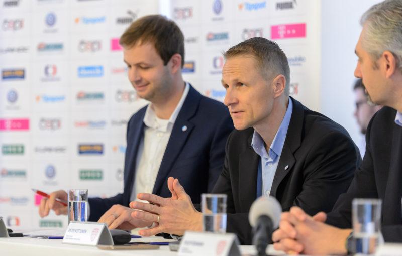Petri Kettunen na nominační tiskové konferenci. Foto: Martin Flousek, Český florbal