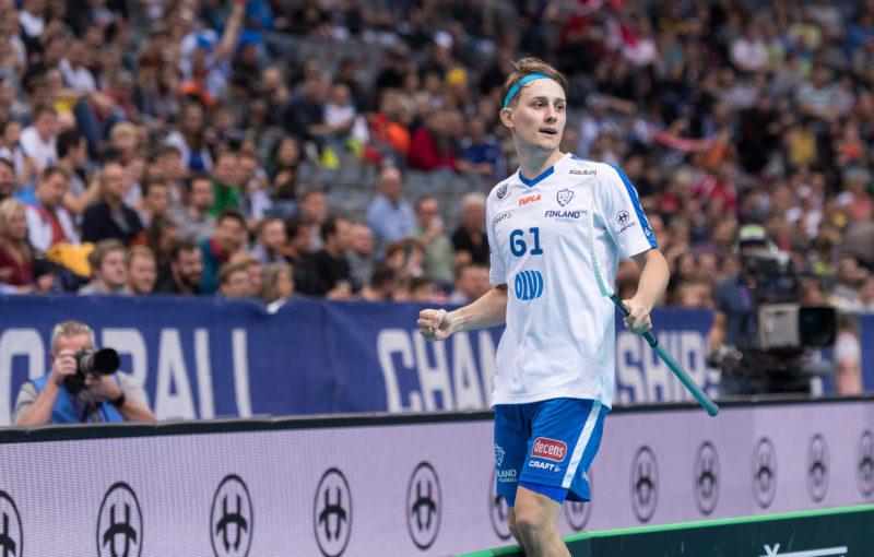 Mladík Peter Kotilainen dvěma góly pomohl svému týmu ke čtvrtfinálové výhře nad Německem. Foto: Flickr IFF