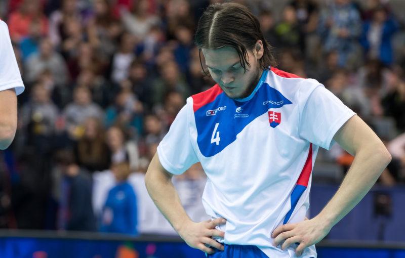 Nejproduktivnější hráč šampionátu Michal Dudovič byl po zápase s Lotyšskem pochopitelně zklamaný. Foto: Flickr IFF