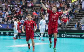 Adam Delong podal proti Švýcarsku skvělý výkon. Foto: Martin Flousek, Český florbal