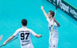 Janos Bröker slaví svůj parádní gól do sítě Dánska. Foto: Flickr IFF