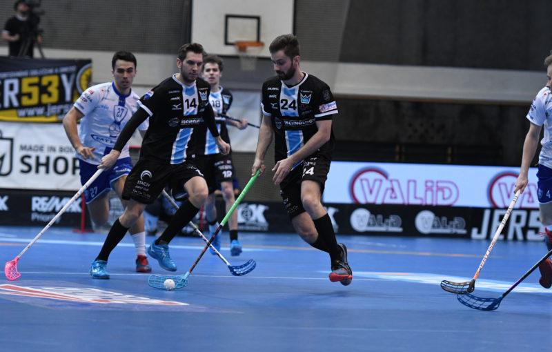 Josef Pluhař (24) přispěl ke druhé výhře Boleslavi v semifinále jedním gólem. Foto: Technology Florbal MB, Český florbal