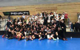 Black Angels v play off vyhráli všech devět zápasů a slaví postup do nejvyšší soutěže. Foto: Black Angels