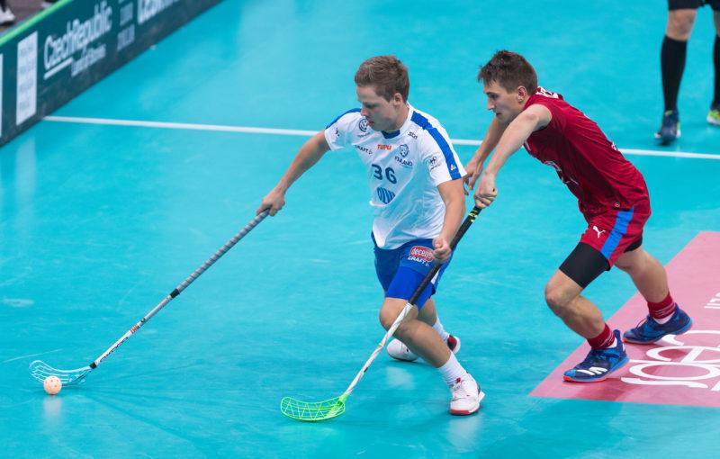 Ville Lastikka v dresu finské reprezentaci na mistrovství světa 2018. Foto: Martin Flousek
