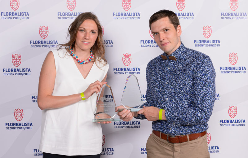 Eliška Krupnová a Matěj Jendrišák. Foto: Martin Flousek, Český florbal