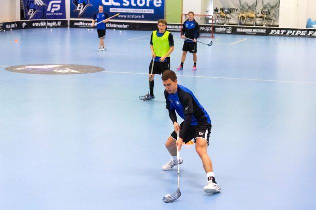 Ondřej Vítovec na tréninku finského týmu. Foto: Tatran Střešovice