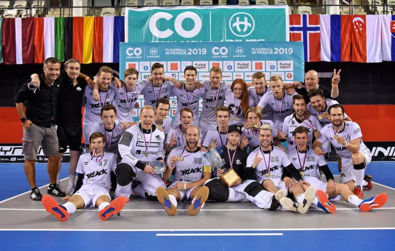 Black Angels, vítězové kategorie Pro na Czech Open 2019. Foto: Floorball Czech Open