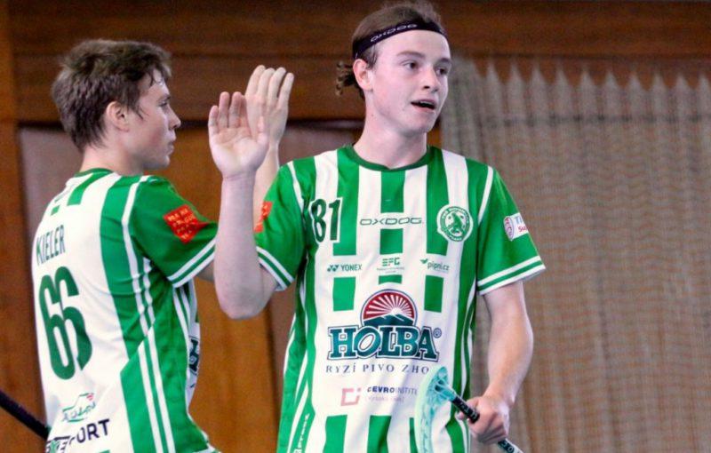 Filip Forman se raduje z branky se spoluhráčem Patrikem Kielerem. Foto: FbŠ Bohemians