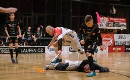 V duelu dvou celků, které ještě loni hrály v superlize, se radovali brněnští Bulldogs. Foto: TJ Znojmo