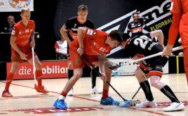 Jakub Mendrek (44) a Jan Řehoř (21) se opět zapsali do statistik švýcarské NLA. Foto: UHC Thun