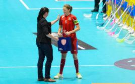 Eliška Krupnová odehrála stý zápas v reprezentaci. Foto: Martin Flousek, Český florbal