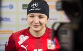 Natálie Martináková dala Švédkám dva góly. Foto: Fabian Trees, www.imagepower.ch
