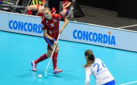 Vendula Beránková v utkání proti Slovensku. Foto: Martin Flousek, Český florbal