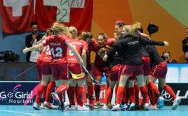 Švýcarsko senzačně postoupilo do finále MS žen. Foto: Martin Flousek, Český florbal