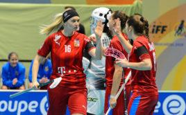 Tereza Urbánková v utkání proti Slovensku. Foto: Martin Flousek, Český florbal