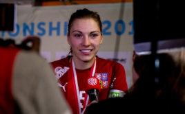 Eliška Krupnová je nejlepší českou florbalistkou za rok 2019 dle Florbal.cz Foto: Fabrice Duc, www.fabriceduc.ch