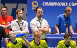 Pavel Brus na lavičce Vítkovic během Poháru mistrů 2020. Foto: Martin Flousek