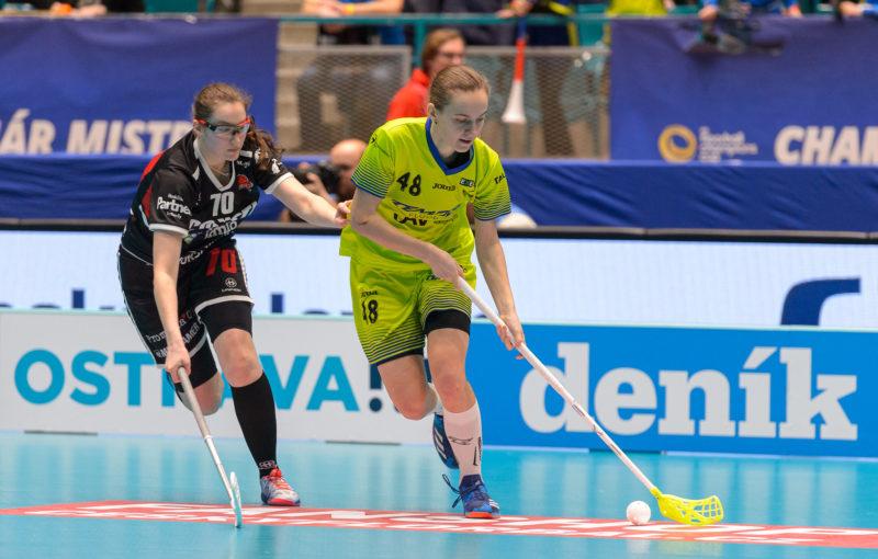 Eliška Planková vstřelila v utkání o 3. místo jednu branku. Foto: Martin Flousek