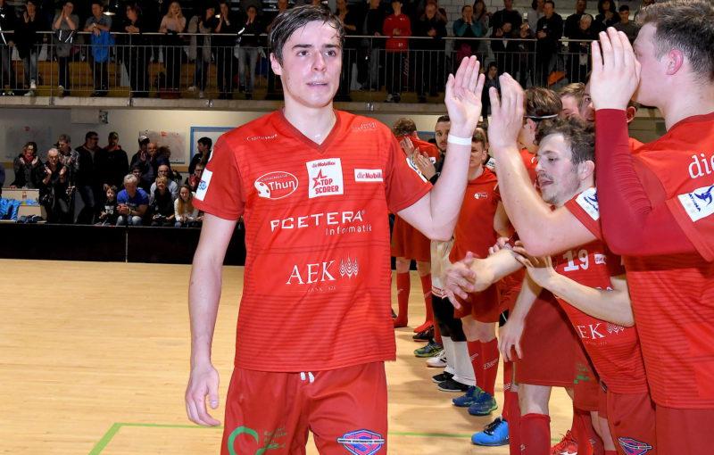 Jan Řehoř byl již poněkolikáté letos vyhlášen nejlepším hráčem Thunu. Foto: Swiss Unihockey