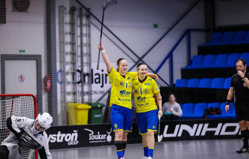Paulína Hudáková a Michaela Mlejnková byly opět ústředními postavami ostravského vítězství. Foto: FBC ČPP Ostrava