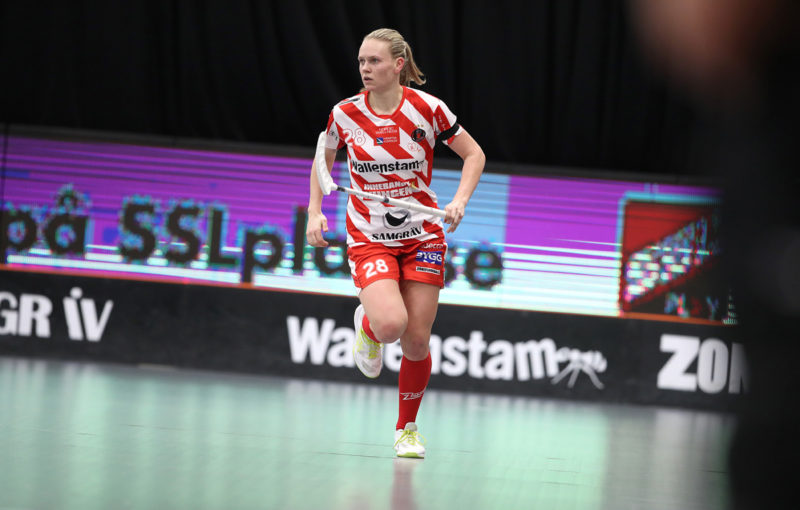 Denisa Ratajová v dresu Pixba. Foto: Per Wiklund, www.perwiklund.se