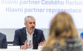 Filip Šuman na tiskové konferenci před zahájením sezony 2020/2021. Foto: Český florbal