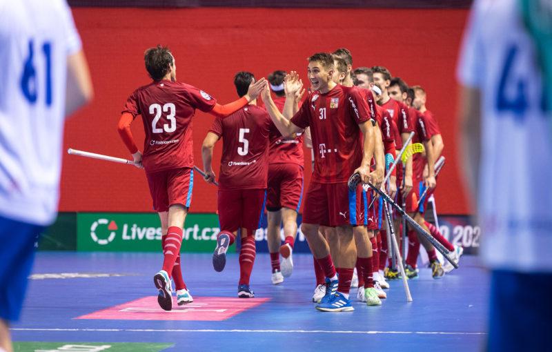 Česká republika slaví druhou výhru nad Slovenskem v kategorii mužů. Foto: Martin Flousek, Český florbal