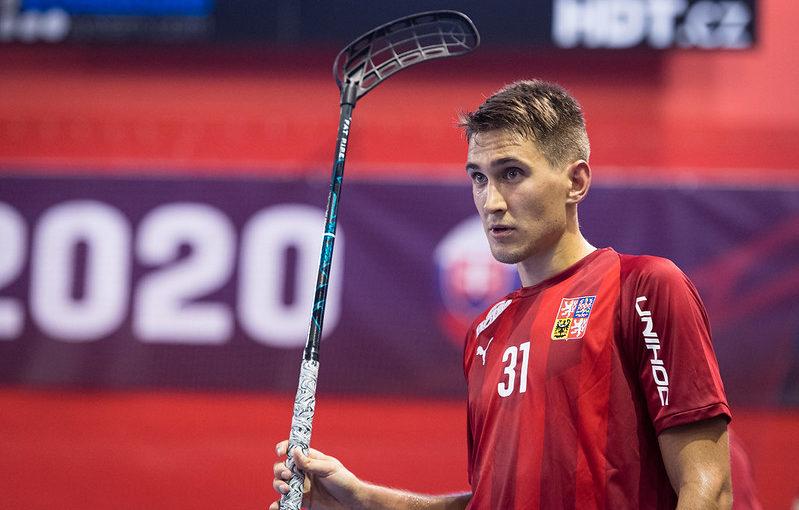 Josef Rýpar zaznamenal proti Slovensku svůj první reprezentační hattrick. Foto: Martin Flousek, Český florbal