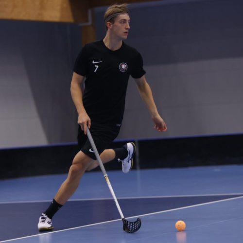 Filip Langer na tréninku Storvrety. Foto: Storvreta IBK