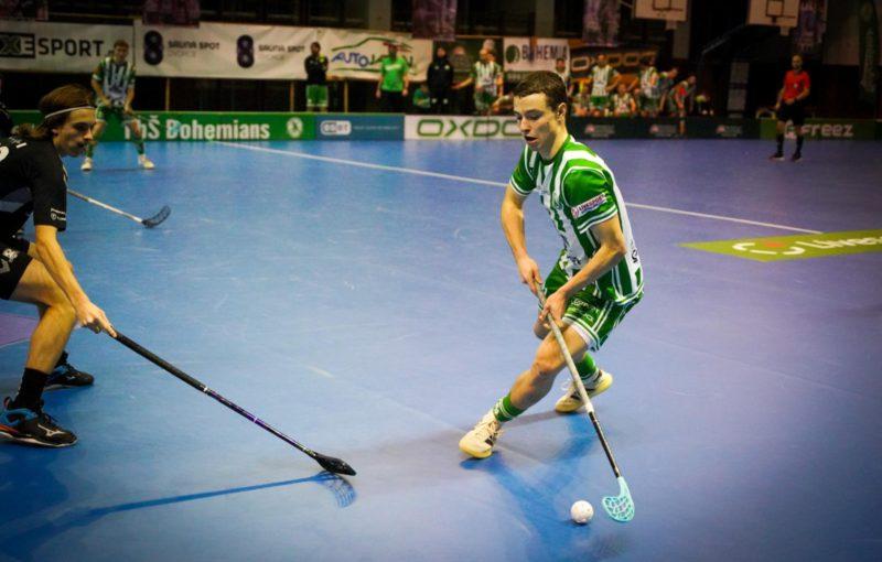 Filip Forman zapsal proti SKV tři body. Foto: FbŠ Bohemians, Český florbal