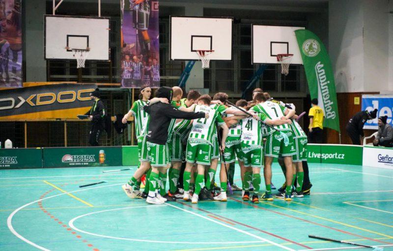 Bohemians slaví výhru! Foto: FbŠ Bohemians, Český florbal