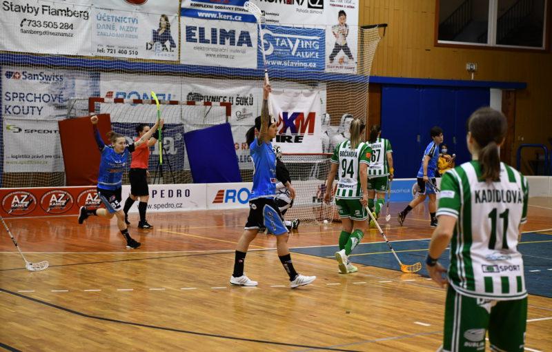 Hrající trenérka Jičína Gabriela Žůrková nasměrovala svůj tým k výhře nad Bohemians. Foto: KM automatik FBK Jičín