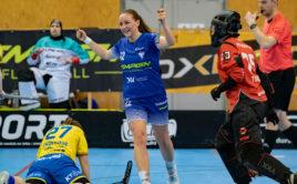 Lina Hägg vstřelila FBC pět branek. Foto: Lukáš Zetek, Florbal Vítkovice
