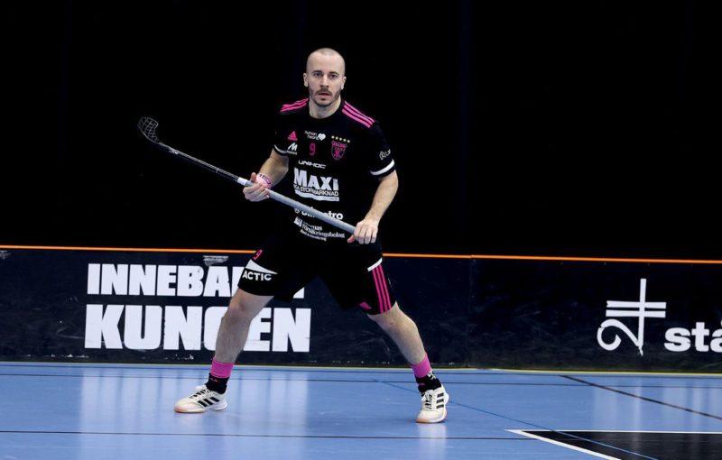 Alexander Galante Carlström v prvním semifinále nasázel hattrick. FOTO: Per Wiklund.