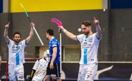 Milan Tomašík a Jiří Curney se radují z postupu do semifinále! Foto: Otakar Prášek